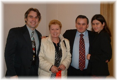 Dr. Dembinski with his daughter and friends.